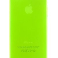 Neon Green Frosted Transparent Gel Case for iPhone 5 & 5s