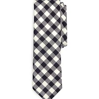Men's Black Fleece Medium Gingham Tie