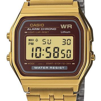 Casio Gold Tone Chronograph Digital A159WGEA-5 Men's Watch