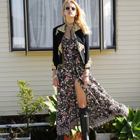 Desert Flower Maxi Dress in Midnight Bloom