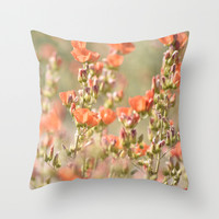 Desert Watercolor Throw Pillow by Lisa Argyropoulos