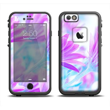 The Vibrant Blue & Purple Flower Field Apple iPhone 6 LifeProof Fre Case Skin Set