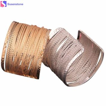Popular hollow pattern metal bracelet, silver, gold Fashion Europe pierced graphic Metal Bracelet