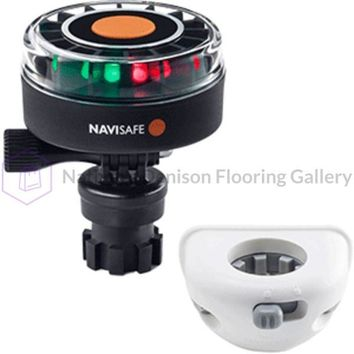 Navisafe Navilight 2NM Tricolor w/Navimount Base & Vertical Mount - White