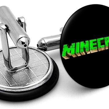 Minecraft Logo Cufflinks