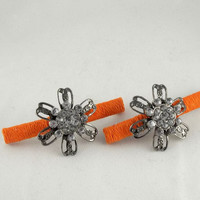 Orange Flower Barrettes by theotherstacey on Etsy