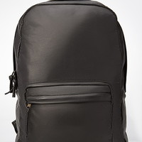 Faux Suede-Paneled Backpack