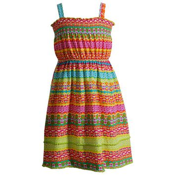 Youngland Pom-Pom Tribal Dress - Girls