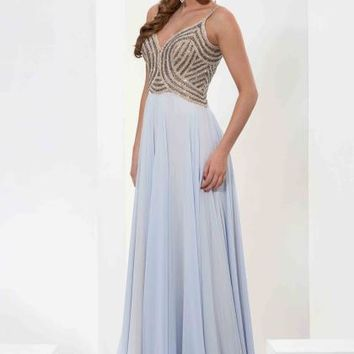 Jasz Couture Two Straps Beaded Dress 5611