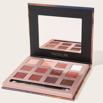 12 Colors Eyeshadow Palette With Brush