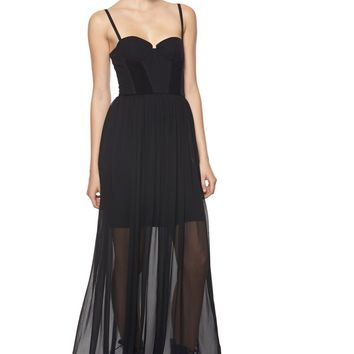 alice + olivia | SHAKIRA BUSTIER MAXI DRESS
