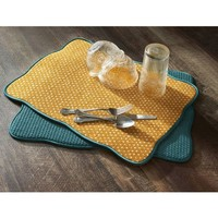 Pioneer Woman Vintage Geo Dish-Drying Mats, Pack of 4 - Walmart.com