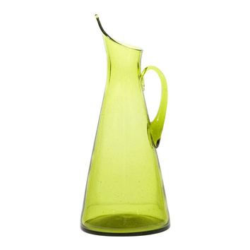 Pre-owned Green Blenko Glass Pitcher