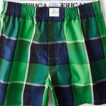 AEO 's Checked Boxer (Green)