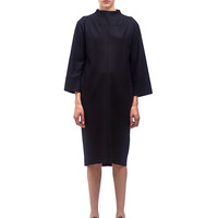 Jil Sander Womens High Neck Wool Dress