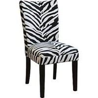 Eziba Zebra Print Parsons Chairs (Set of 2)