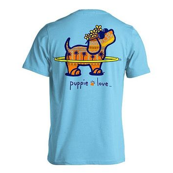Puparoo Short Sleeve Tee in Sky by Puppie Love