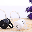 Silver Super Mini Wireless Bluetooth Earphone Ear-hook In-ear Headset Headphone with Mic for Smart phone Tablet PC