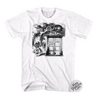 Alice In Wonderland Tardis Disney New Hot T-Shirt