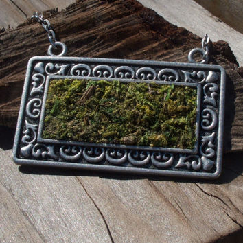 Moss Pendant Necklace, Eco Friendly, Terrarium Necklace, Living Plant Jewelry, Terrarium Jewelry, Earth Day, Garden Gift