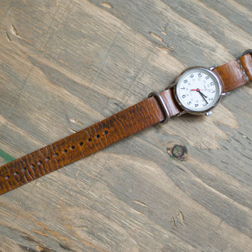 The C. Martin - Vintage Tan Leather NATO Watch Strap