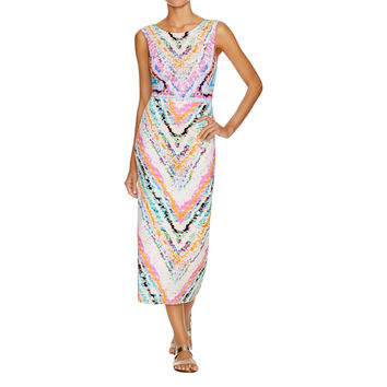 Mara Hoffman Womens Tie Back Jersey Dress Swim Cover-Up