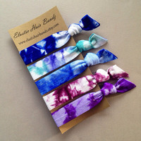 The Kelli Tie Dye Collection Hair Ties OR Headbands You Choose by Elastic Hair Bandz on Etsy