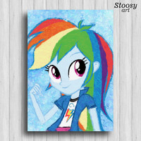 Rainbow Dash my little pony equestria girls poster