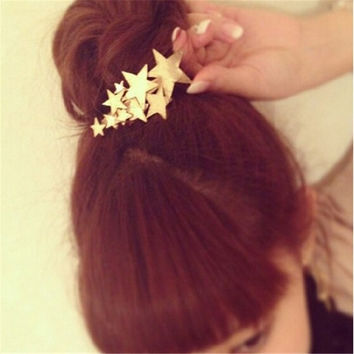 1 Piece Boho Godness Gold Stars Hair Cuff Clip Headband Hairpin Accessory Goth Punk_trq = 5658525761