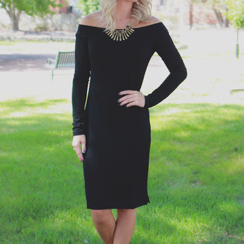 Falling For You Dress - Black