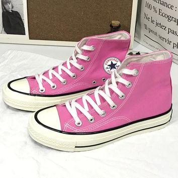 """Converse"" Fashion Casual Women Men Canvas Flats Sneakers Sport Shoes Pink G"