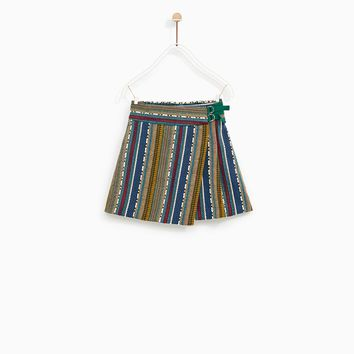 JACQUARD WRAP SKIRT