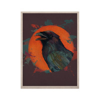 "Lydia Martin ""Raven Sun Alternate"" Orange Purple KESS Naturals Canvas (Frame not Included)"
