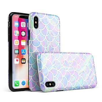 Iridescent Dahlia v8 - iPhone X Swappable Hybrid Case