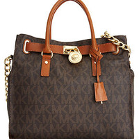 MICHAEL Michael Kors Handbag, Large Signature Hamilton - Shop All Michael Kors Handbags & Accessories - Handbags & Accessories - Macy's