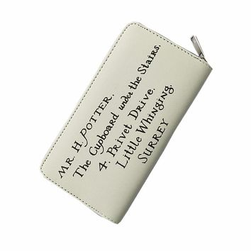 Harry Potter Letter Zip Around Wallet Train Ticket Wallets Fashion Men Women Wallets Purse Lady Party Wallet Female Card Holder