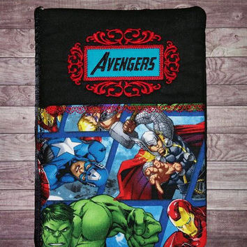 Avengers journal cover A5 Diary cover, superheroes Journal cover book cover, Hulk, Captain america, thor, A5 personalised name, diary,