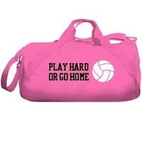 Play Hard Volleyball Bag: Liberty Bags Barrel Duffel Bag