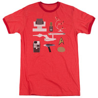 Star Trek Tos Gift Set Red Ringer T-Shirt