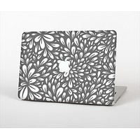 The Gray & White Floral Sprout Skin Set for the Apple MacBook Air 11""