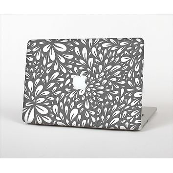 The Gray & White Floral Sprout Skin Set for the Apple MacBook Pro 13""