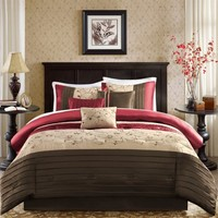 Madison Park Serene Comforter Set - Red MP10-307/8/9