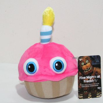 """Licensed cool 6"""" Cupcake with Candle Eyes Five Nights At Freddy's Plush Toy Funko Series 2 NEW"""