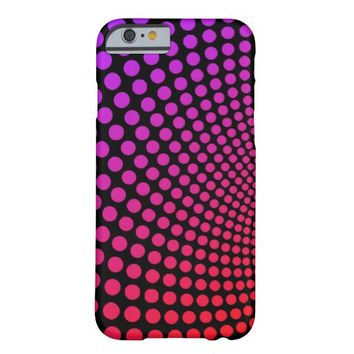 Hypnotic Polka Dots Psychedelic Pop Art Pattern Barely There iPhone 6 Case