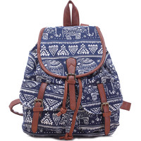 Leisure Elephant School Rucksack For Girl Totem College Canvas Backpack