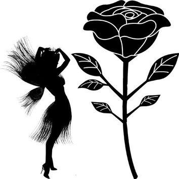 Peacock Fairy rose flower png silhouette Digital graphics Image Download fantasy art illustration