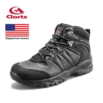 Shipped From America Clorts Women Genuine Leather Hiking Shoes Waterproof Hunger Game Outdoor Climbing Sneakers HKM-822D