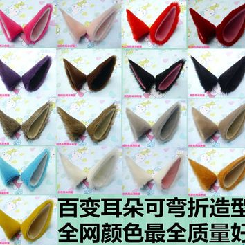 Creative Harajuku Anime Japanese cosplay Cat ears cartoon Halloween Masquerade cute multicolor cartoon cost Fox ears