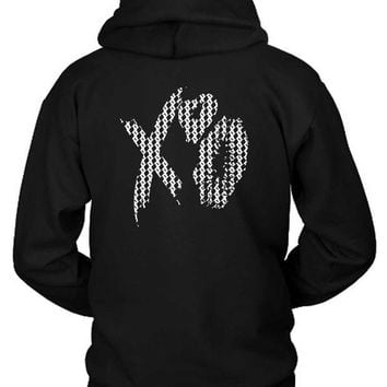 DCCKG72 The Weeknd Xo Kisses Pattern Hoodie Two Sided