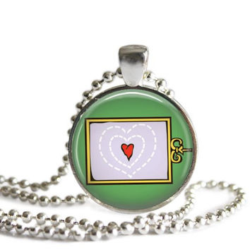 The Grinch Who Stole Christmas Necklace His Heart Was Two Sizes Too Small Pendant
